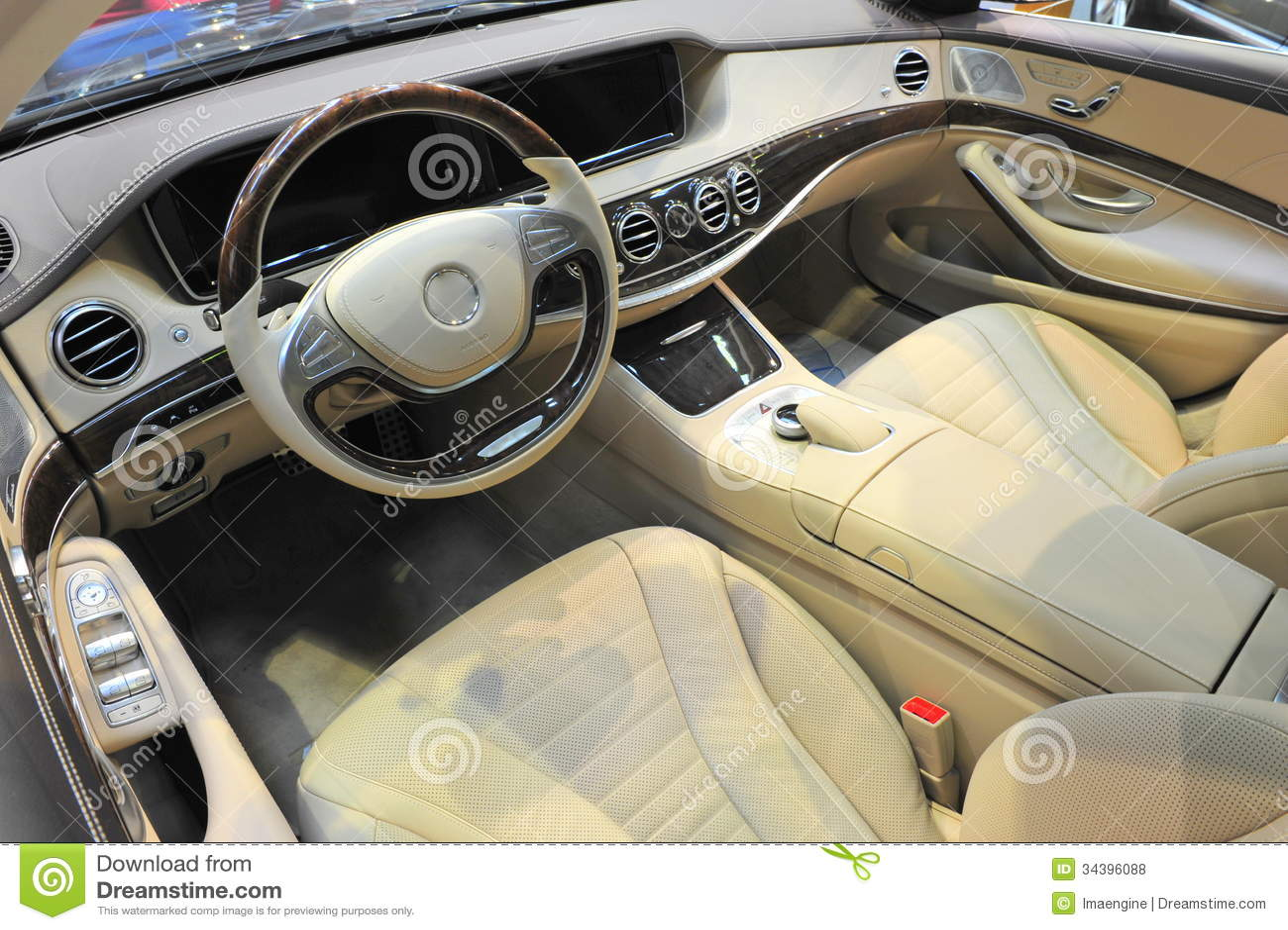 2014 mercedes benz s klasse luxurious interior det royalty free stock photos image 34396088. Black Bedroom Furniture Sets. Home Design Ideas