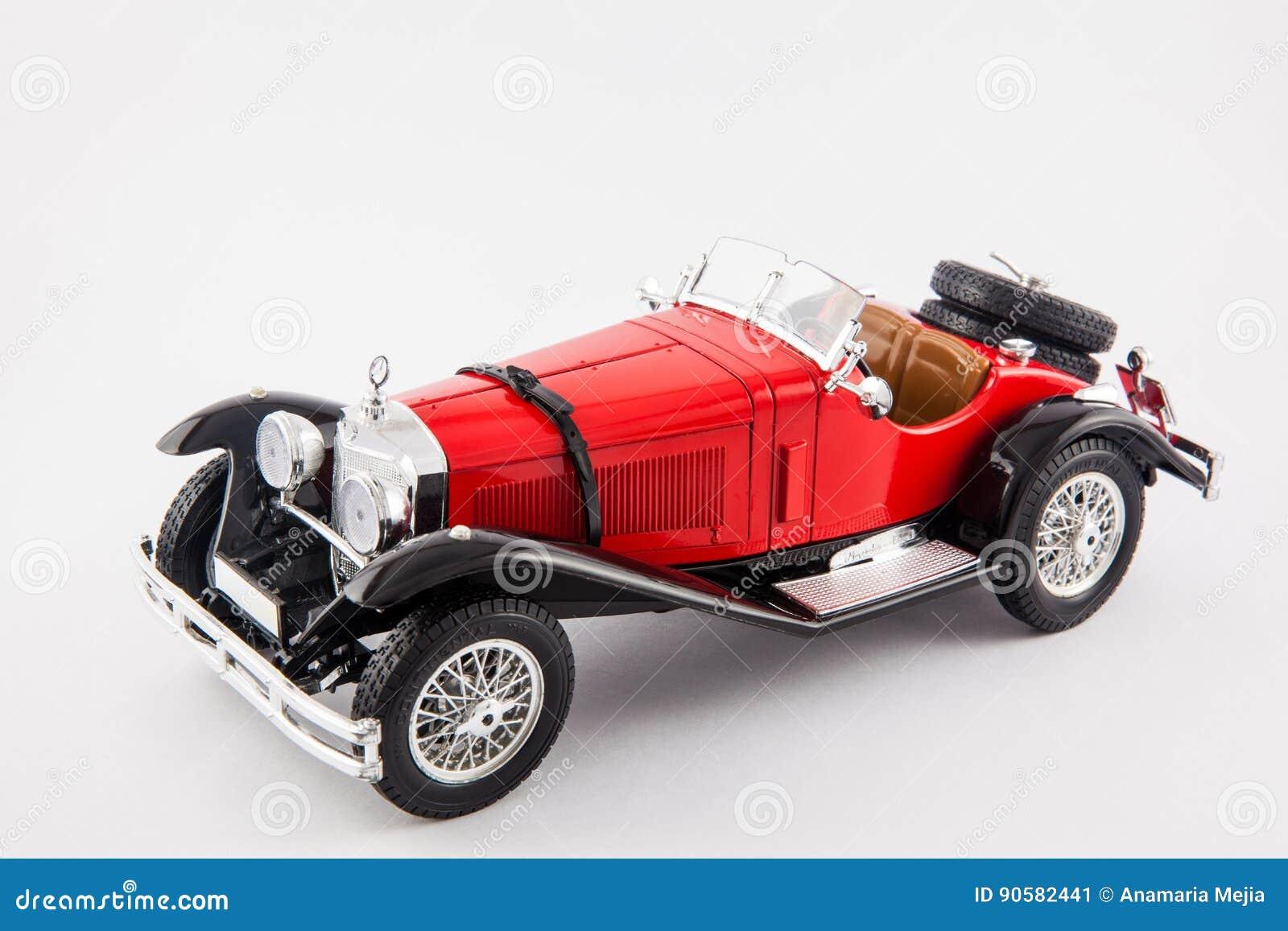 Red Car Older Parked