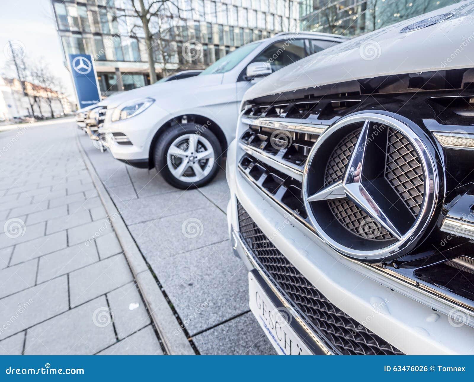 Mercedes benz sign editorial photo image of mercedes for Mercedes benz car dealership