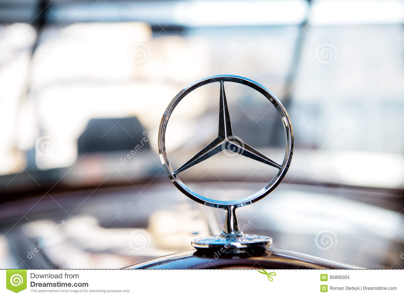 Mercedes Benz Sign Or Logo Close Up Editorial Stock Image Image Of