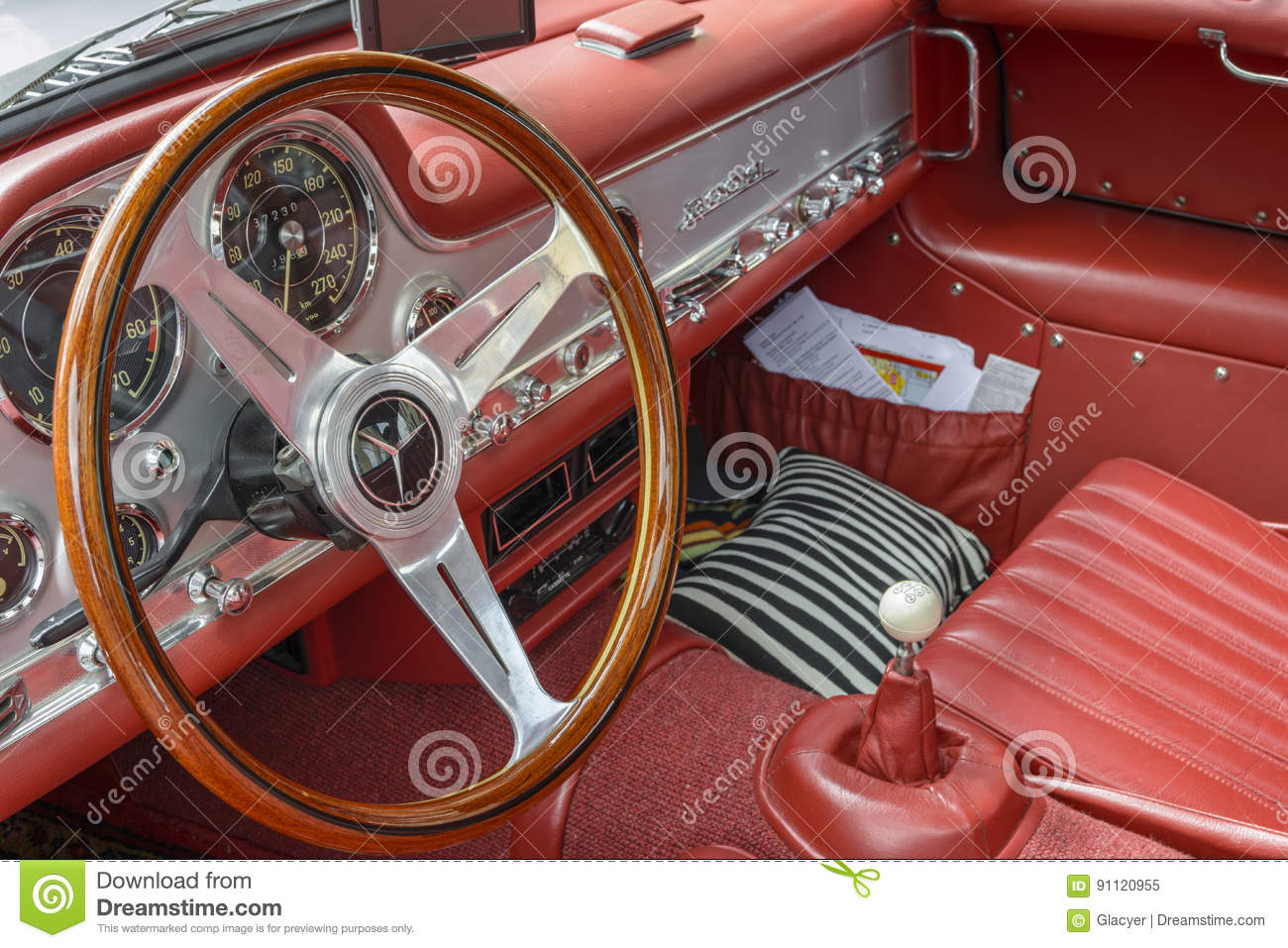 Mercedes Benz Sl 300 Gullwing Interior Editorial Image Image Of