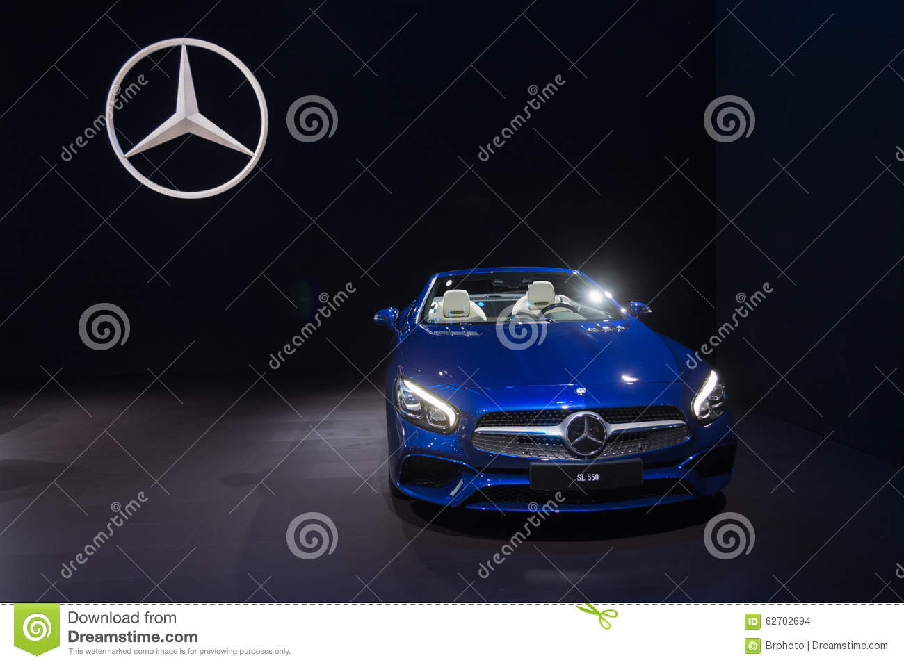 Mercedes benz sl550 editorial stock image image 62702694 for Dream motors los angeles