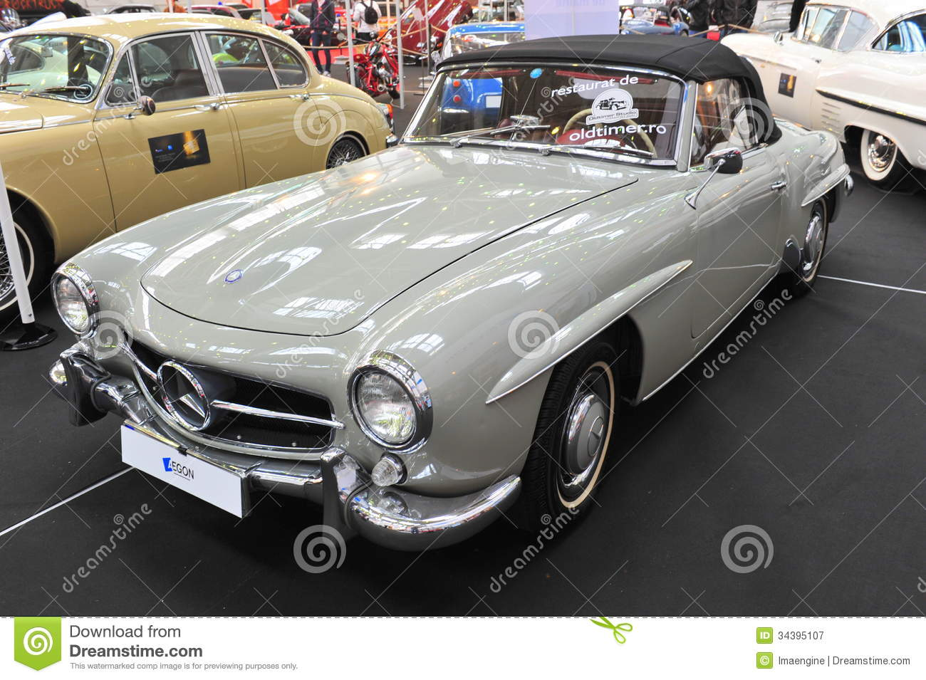 Mercedes benz 190sl retro car show editorial photography - Mercedes car show ...