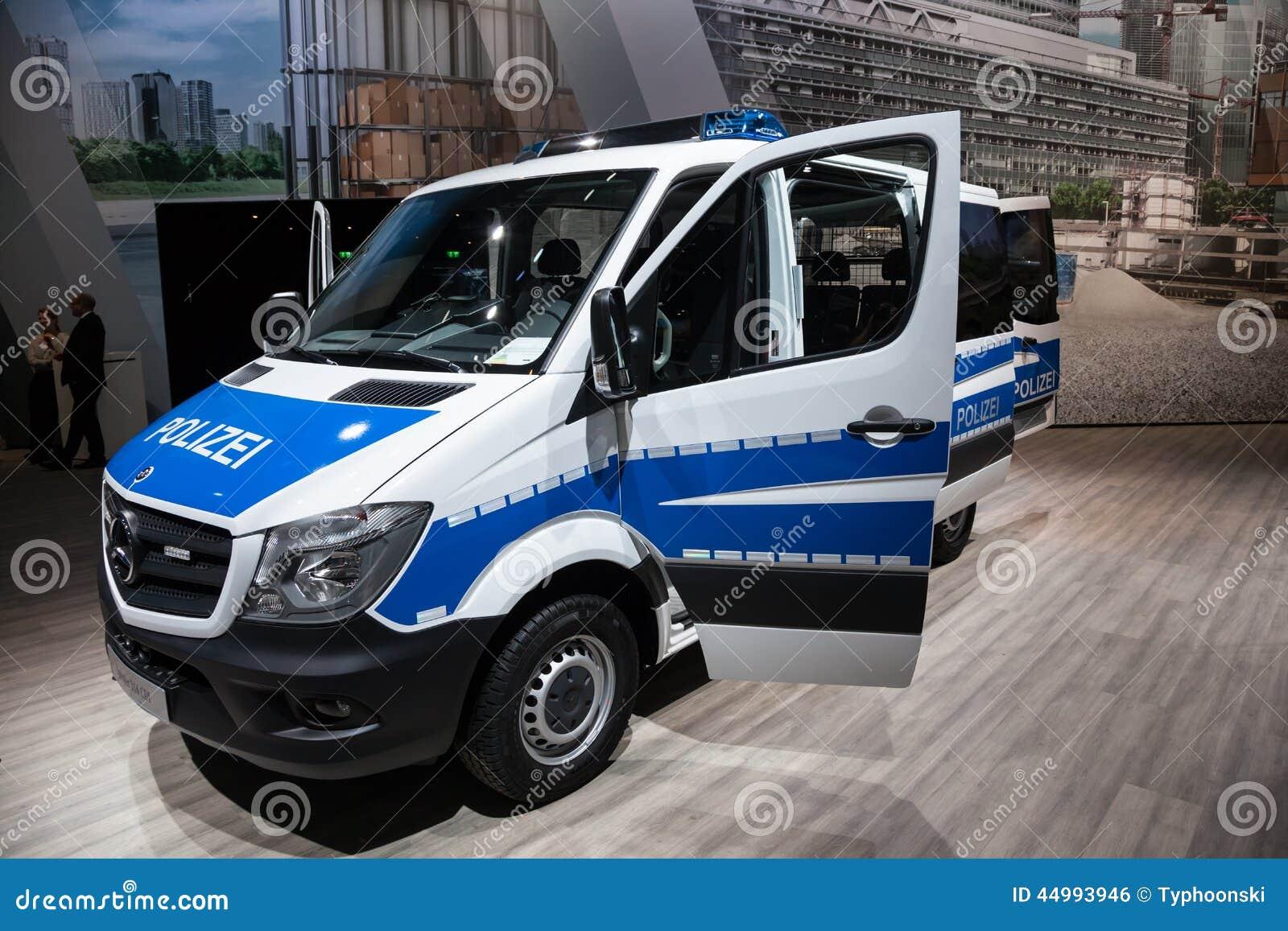 mercedes benz sprinter 316 cdi polizei van editorial photo. Black Bedroom Furniture Sets. Home Design Ideas