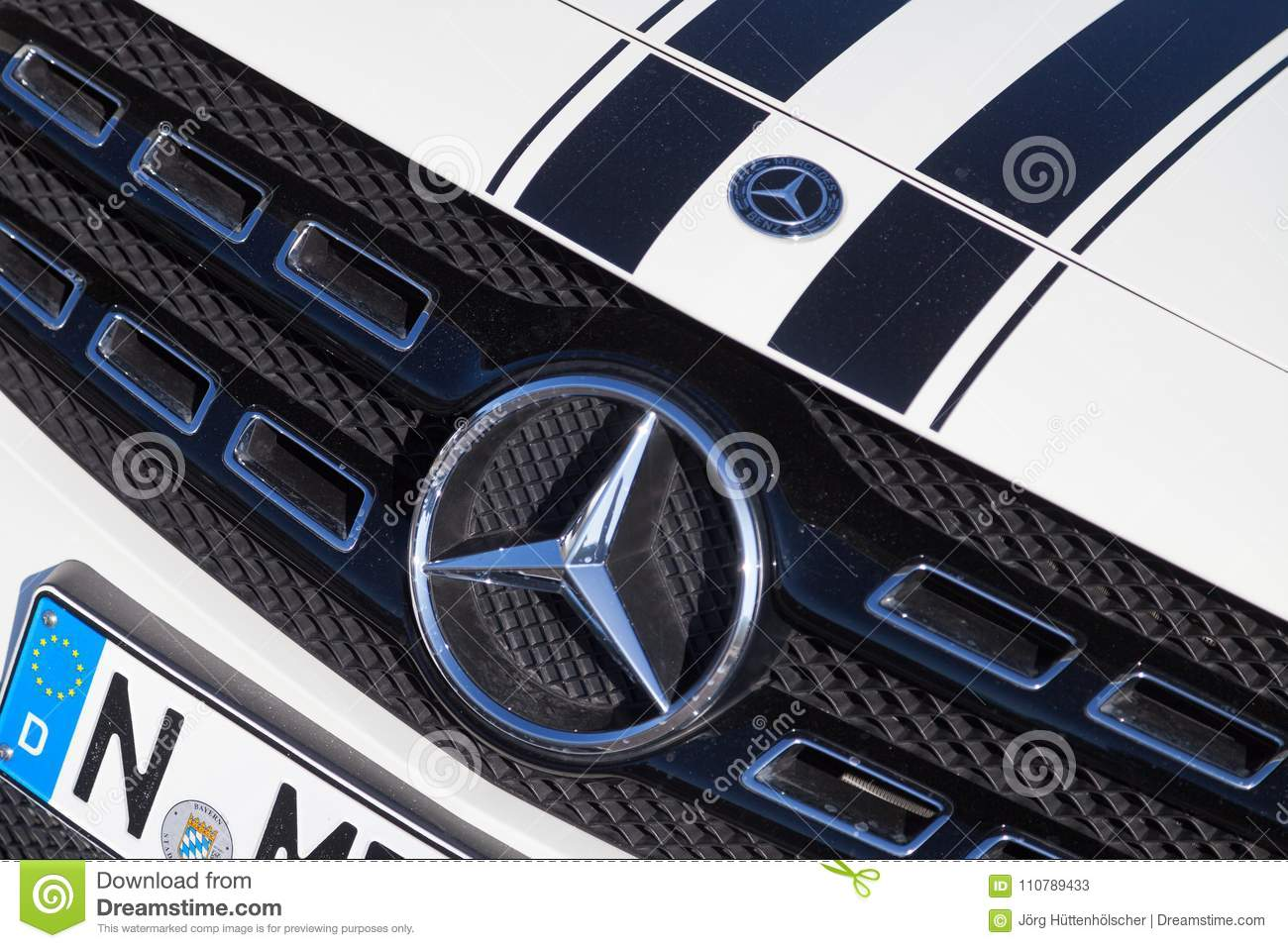 Mercedes Benz Symbol On A Car Editorial Stock Photo Image Of