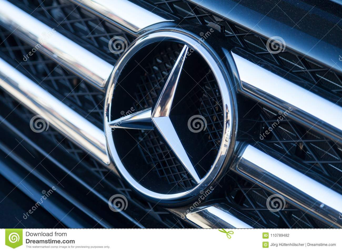 Mercedes Benz Symbol On A Car Editorial Photography Image Of Logo