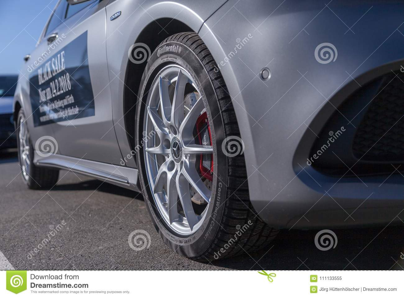 Mercedes Benz Symbol On A Car Editorial Image Image Of Editorial