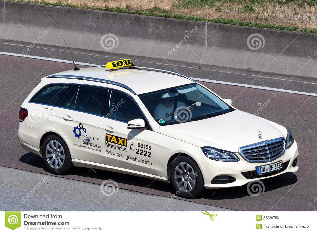Mercedes benz taxi on the highway in germany editorial for Mercedes benz frankfurt