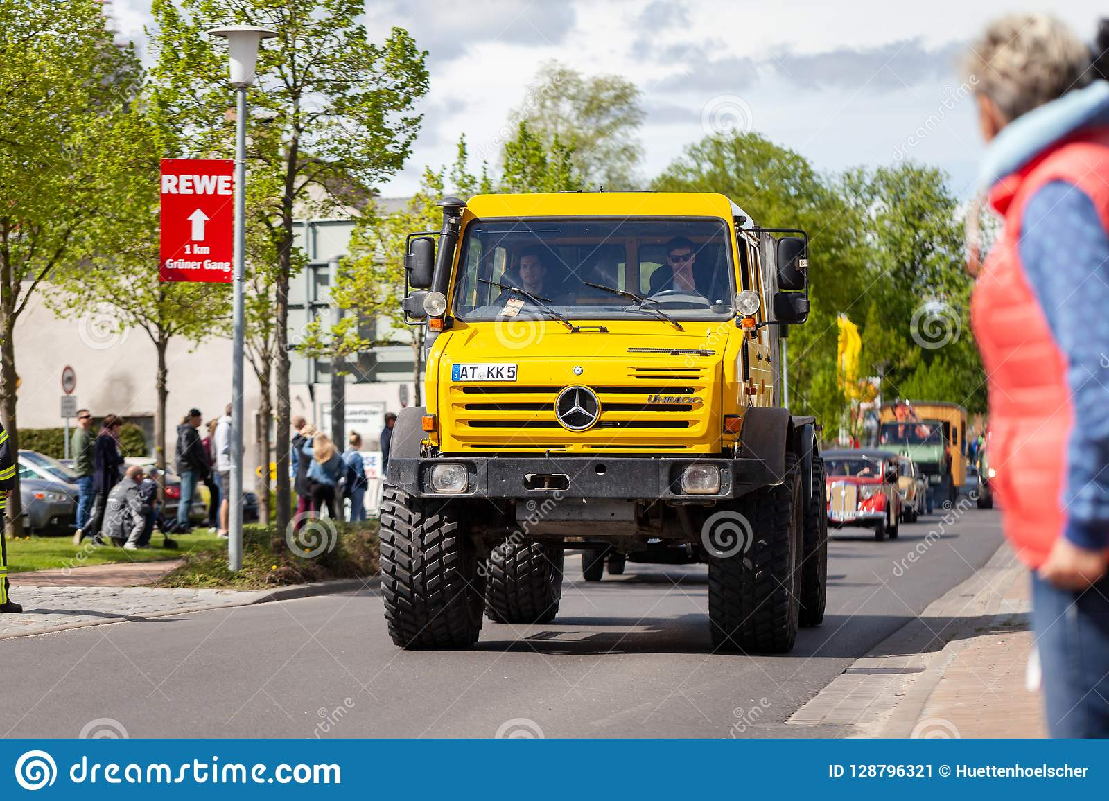 Mercedes Benz Unimog Drives On Street Editorial Photo Image Of