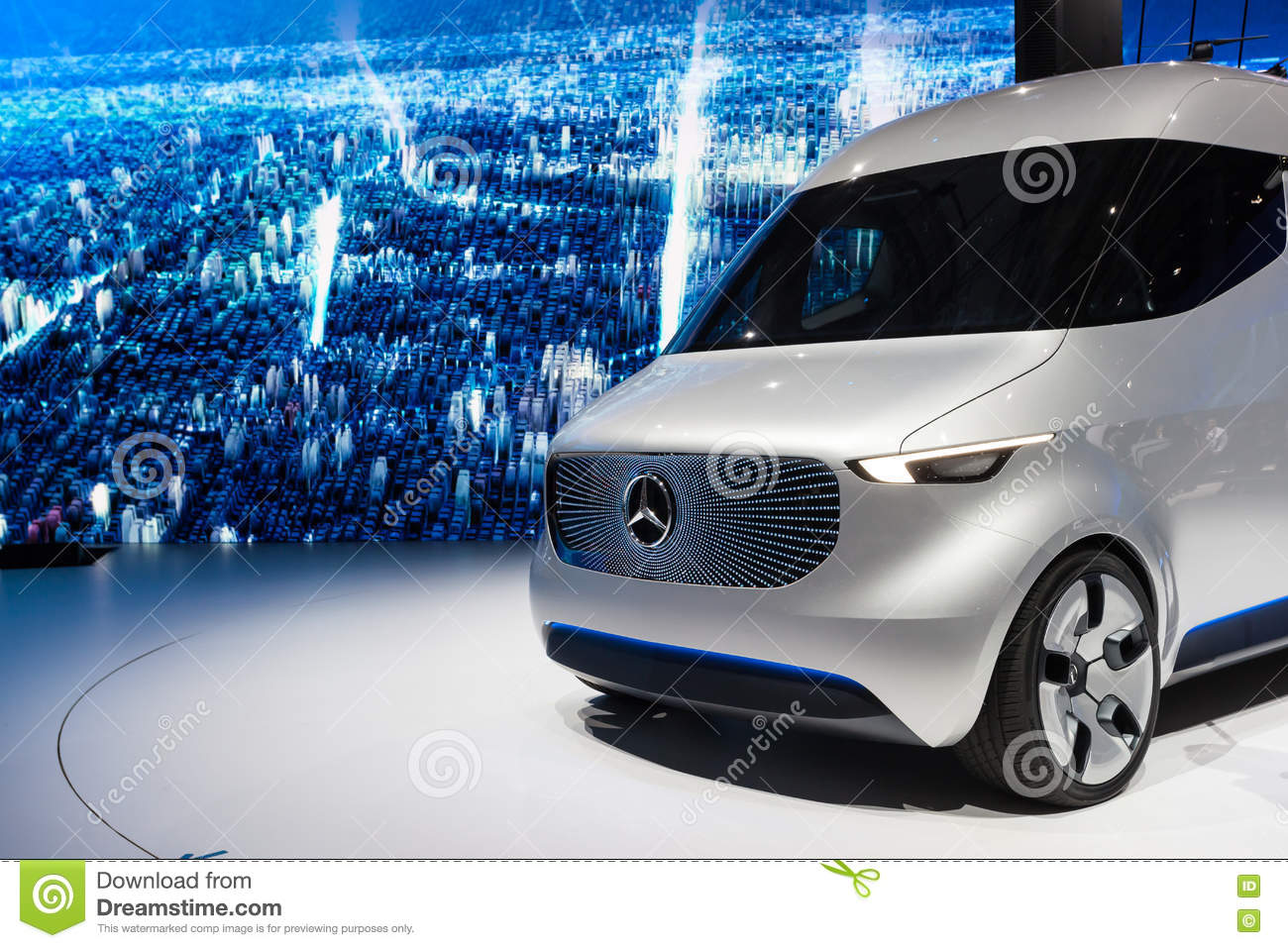 122fe720ae Mercedes Benz Vision Van editorial stock photo. Image of technology ...