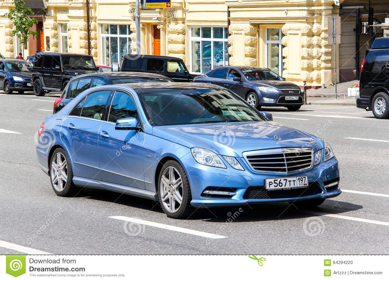 Blue mercedes benz a class car editorial photo for Mercedes benz stock