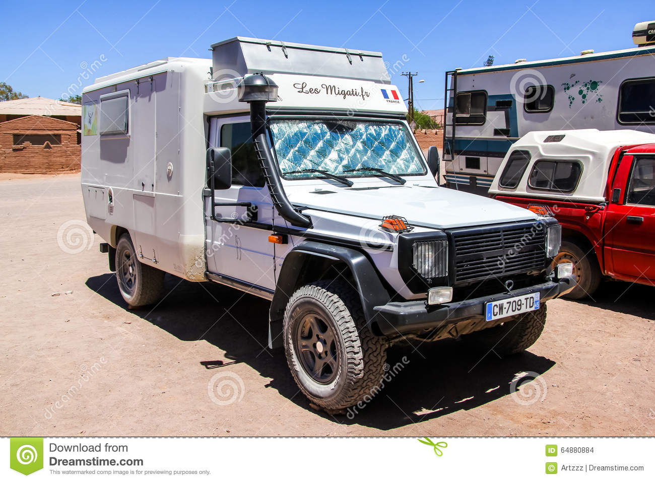 Mercedes benz w461 g class editorial stock image image of for Mercedes benz campervan usa