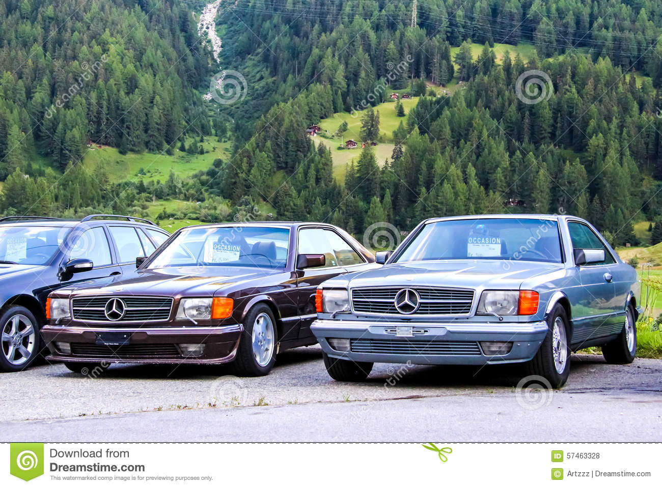 mercedes benz w126 sec class editorial stock photo image 57463328. Black Bedroom Furniture Sets. Home Design Ideas