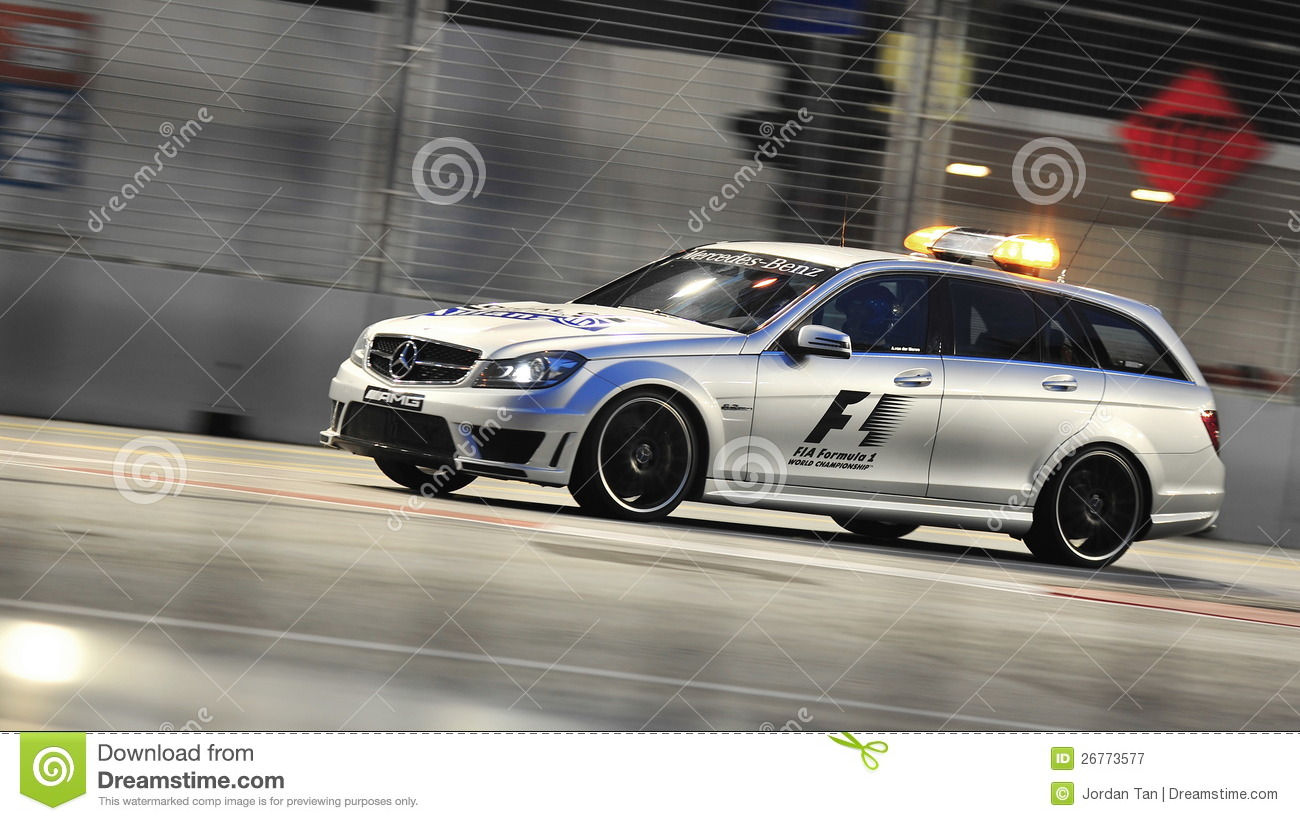 mercedes c63 amg medical car at f1 singapore gp editorial. Black Bedroom Furniture Sets. Home Design Ideas