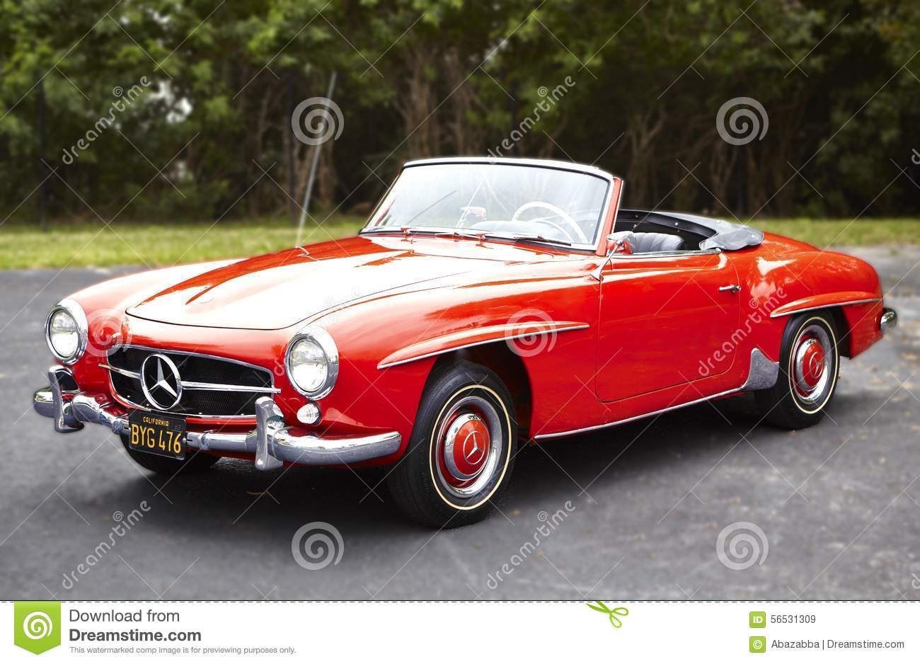 Mercedes convertible classic car editorial stock image for Mercedes benz classic cars