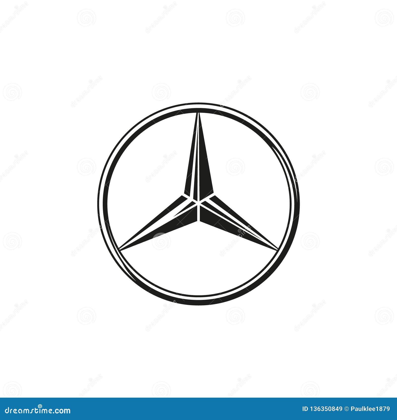 Mercedes Logo Vector imagen de archivo editorial ...