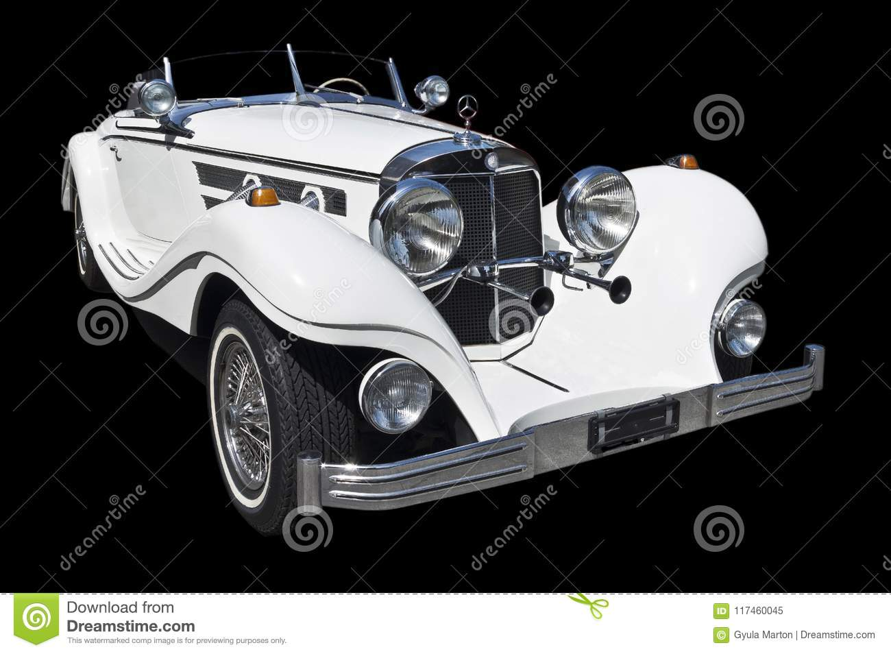 1934 Mercedes roadster cutout