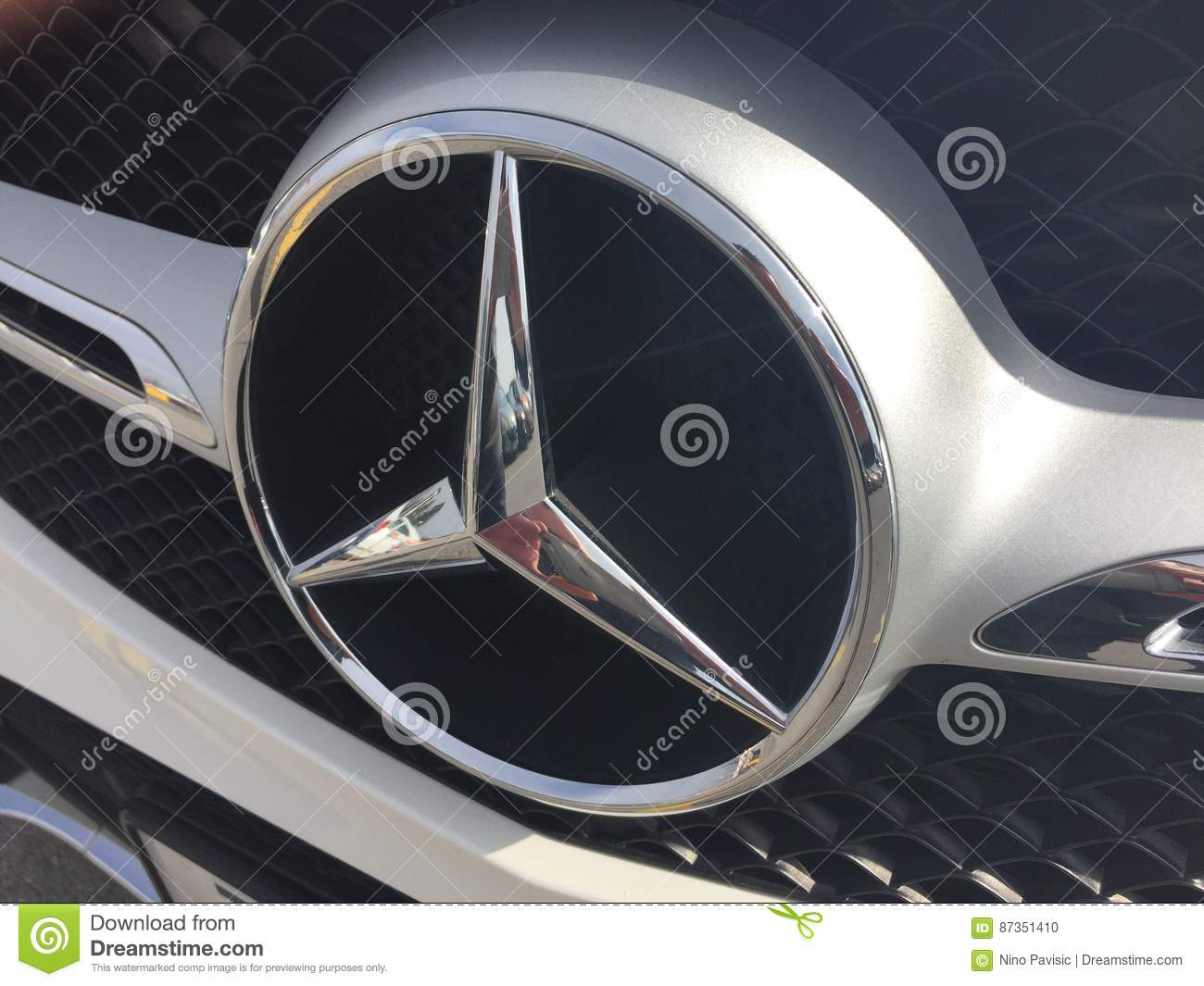 Mercedes Sign Editorial Image Image Of Fancy Star Benz 87351410