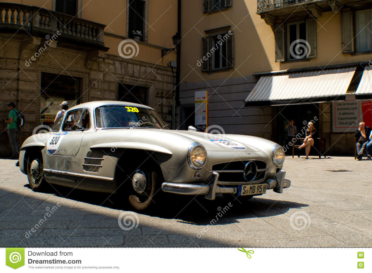 Ford zephyr at mille miglia 2016 editorial image for Bergamo toons