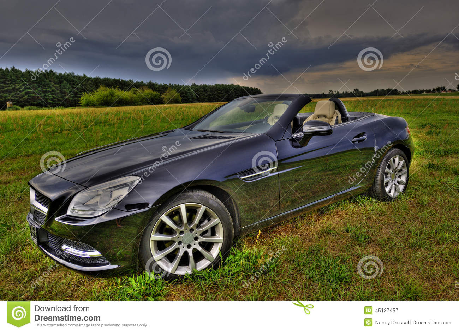 mercedes slk 200 cabrio stock image image of diesel 45137457. Black Bedroom Furniture Sets. Home Design Ideas