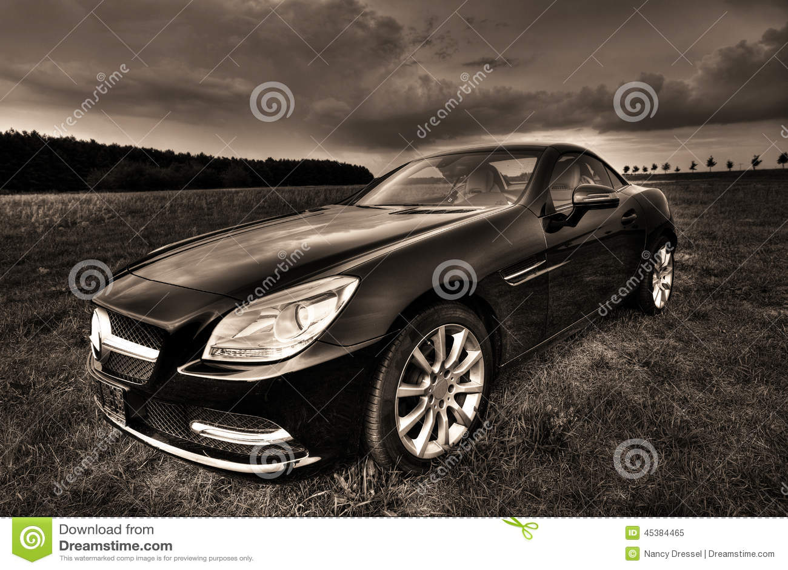 mercedes slk 200 cabrio stock image image of autos lifestyle 45384465. Black Bedroom Furniture Sets. Home Design Ideas
