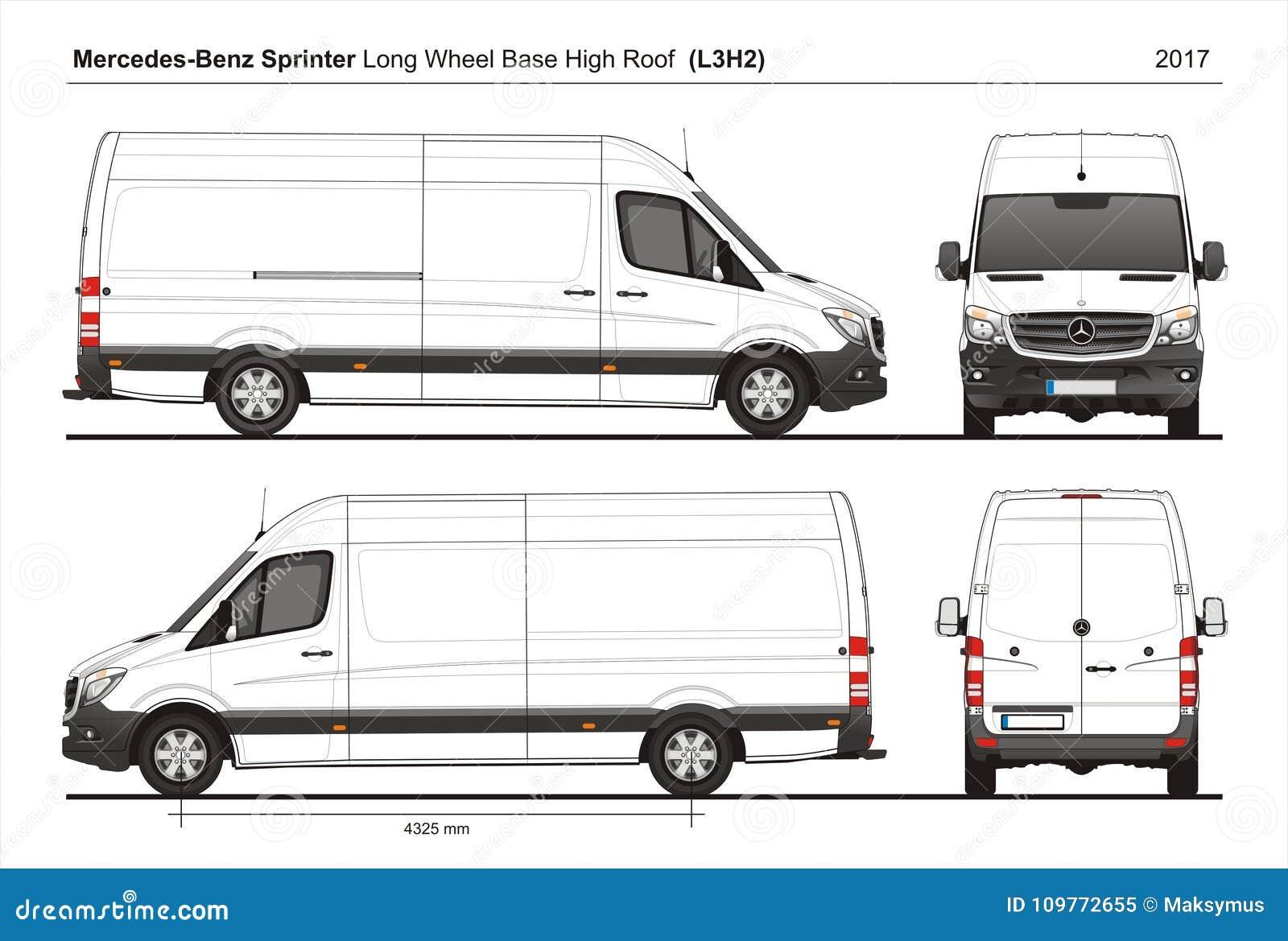 Mercedes Sprinter Lwb High Roof Cargo Van L3h2 2017 Editorial Image