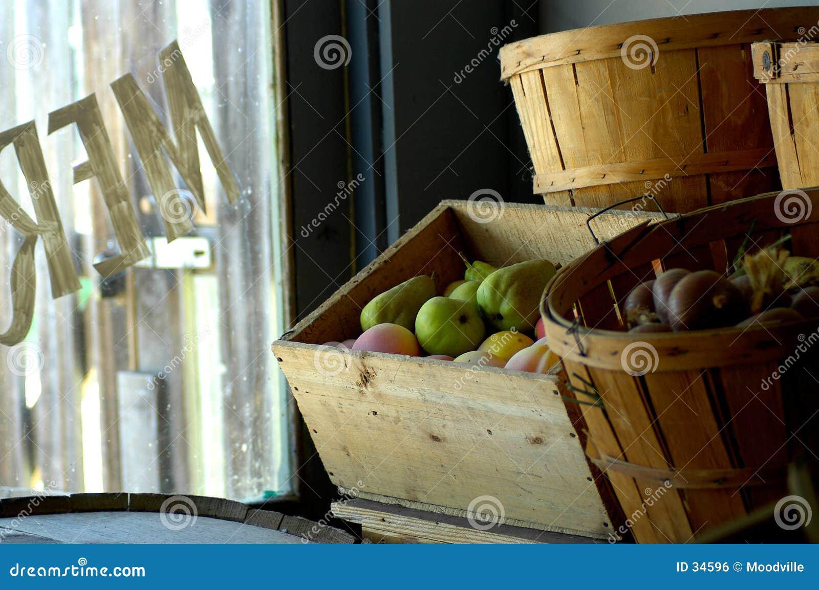 Merchant store window