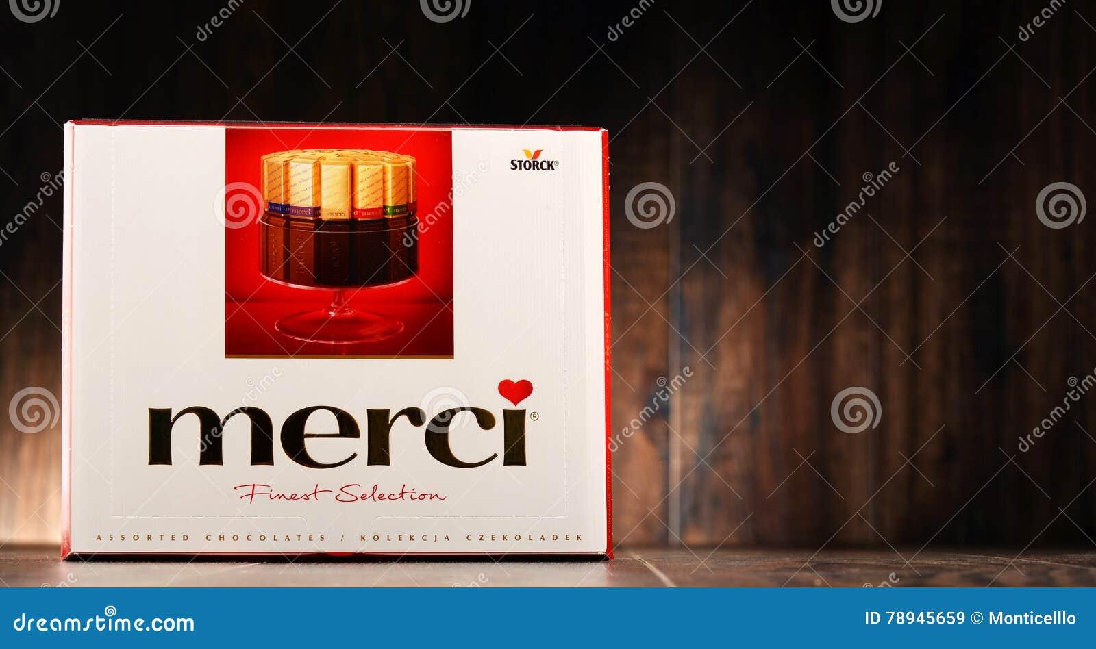 Merci Chocolate Candy Box Editorial Stock Image - Image: 78945659