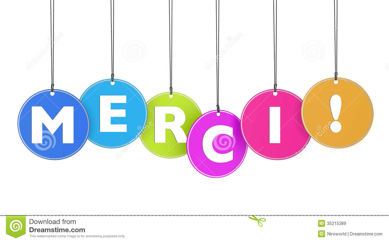 Merci Concept On Tags Royalty Free Stock Images Image