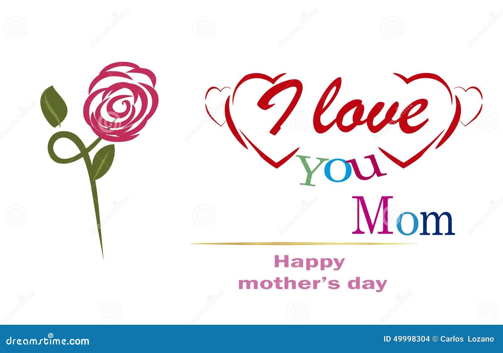 Merci Maman Jour De Mères Heureux Photo Stock Image Du Amitié
