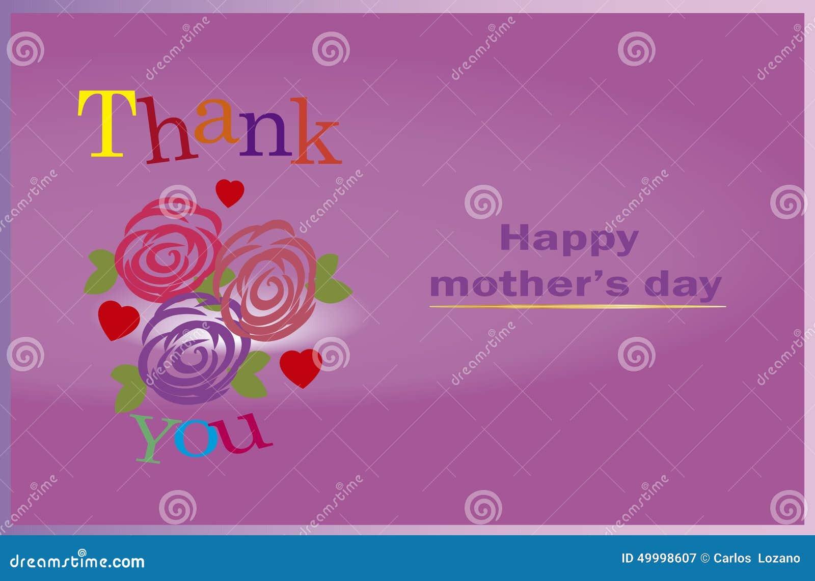 Merci Maman Jour De Mères Heureux Image Stock Image Du Famille