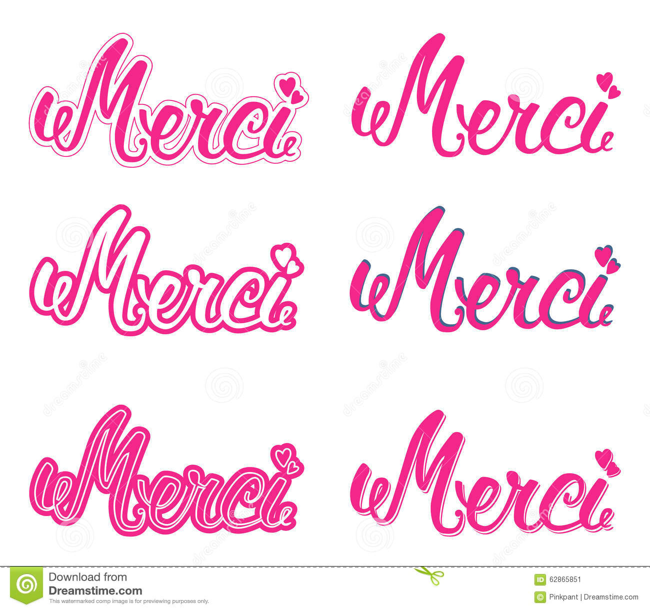 Merci set hand lettering the handwritten word thank you in french the handwritten word thank you in french stock vector expocarfo Gallery