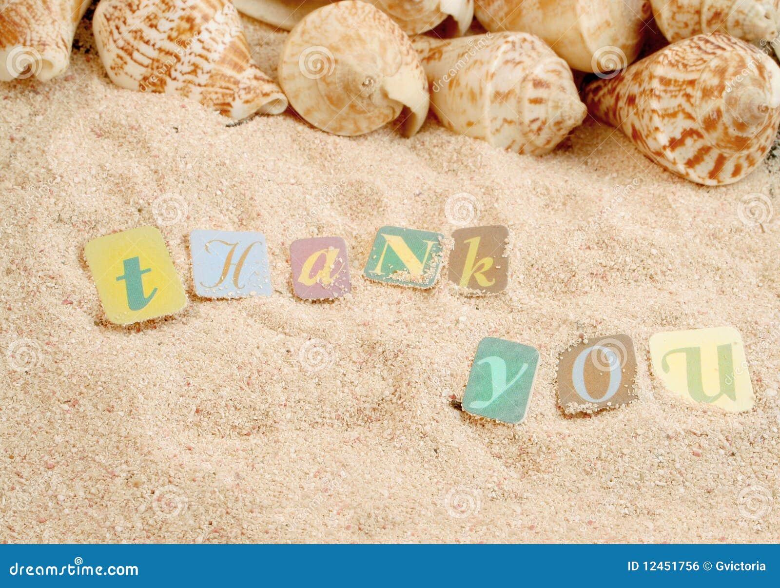 Merci sur le sable