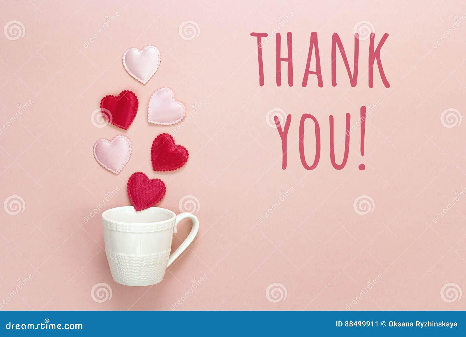 Merci tasse de message et de caf avec des coeurs sortant de elle o image stock image du - Images avec des coeurs ...
