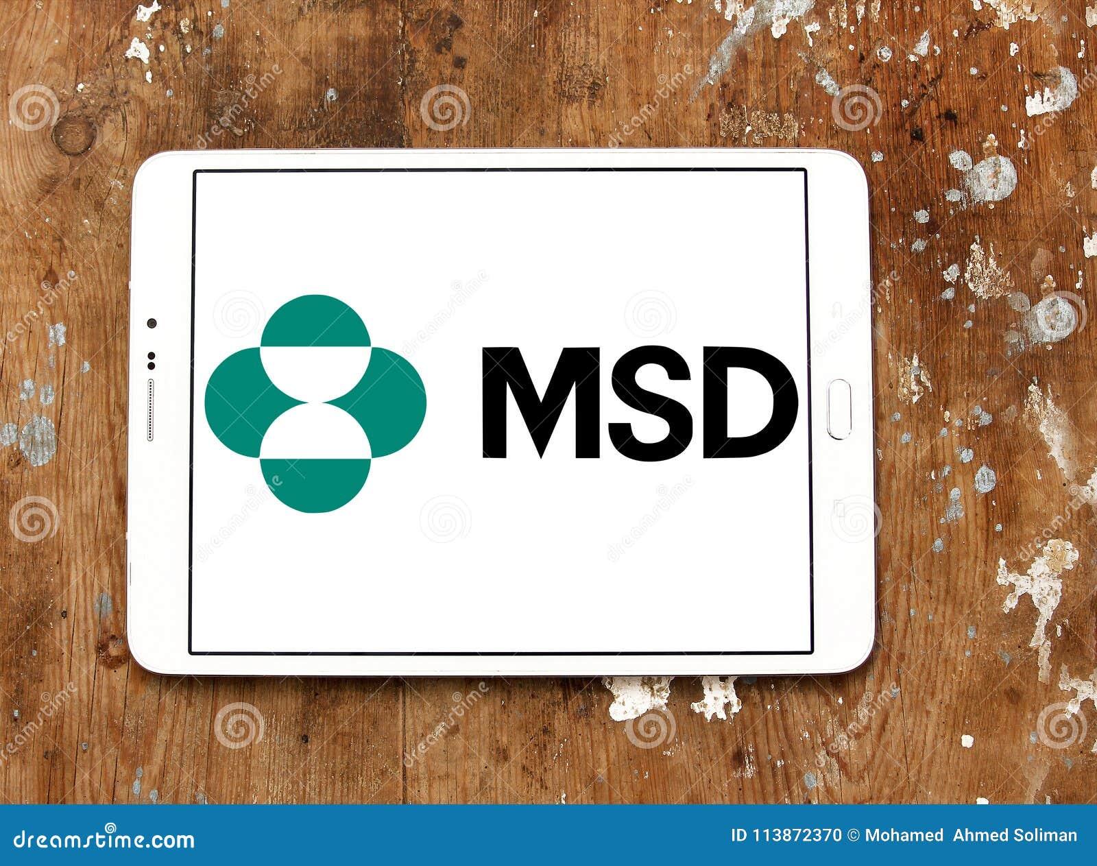 Merck Sharp Dohme Msd Company Logo Editorial Image Image Of