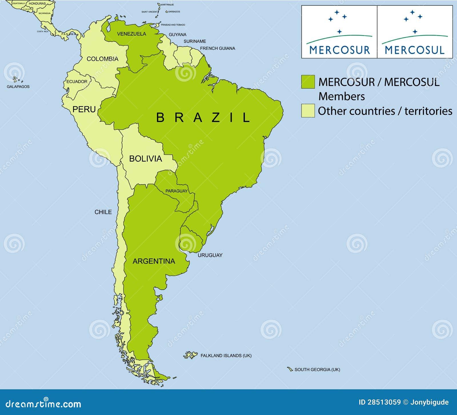 MERCOSUR/MERCOSUL Organization Royalty Free Stock Images - Image ...