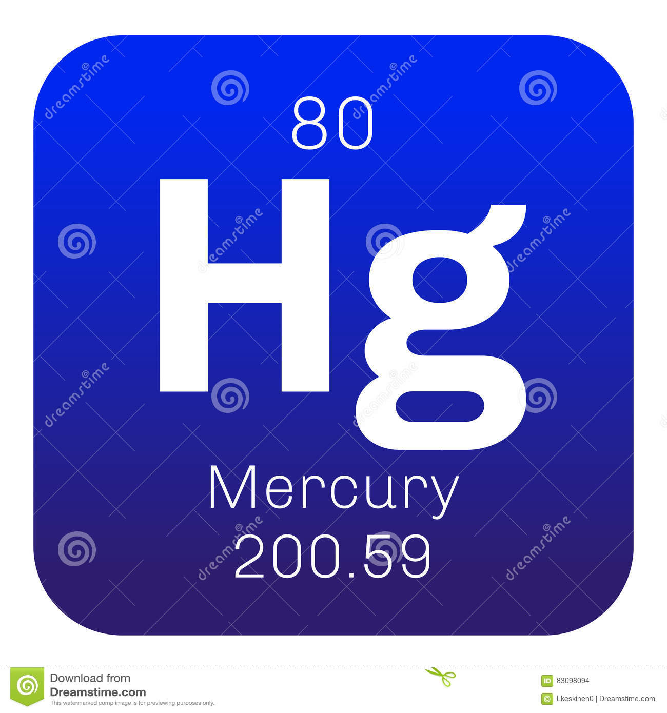 Mercury Chemical Element Stock Vector Illustration Of Simple 83098094