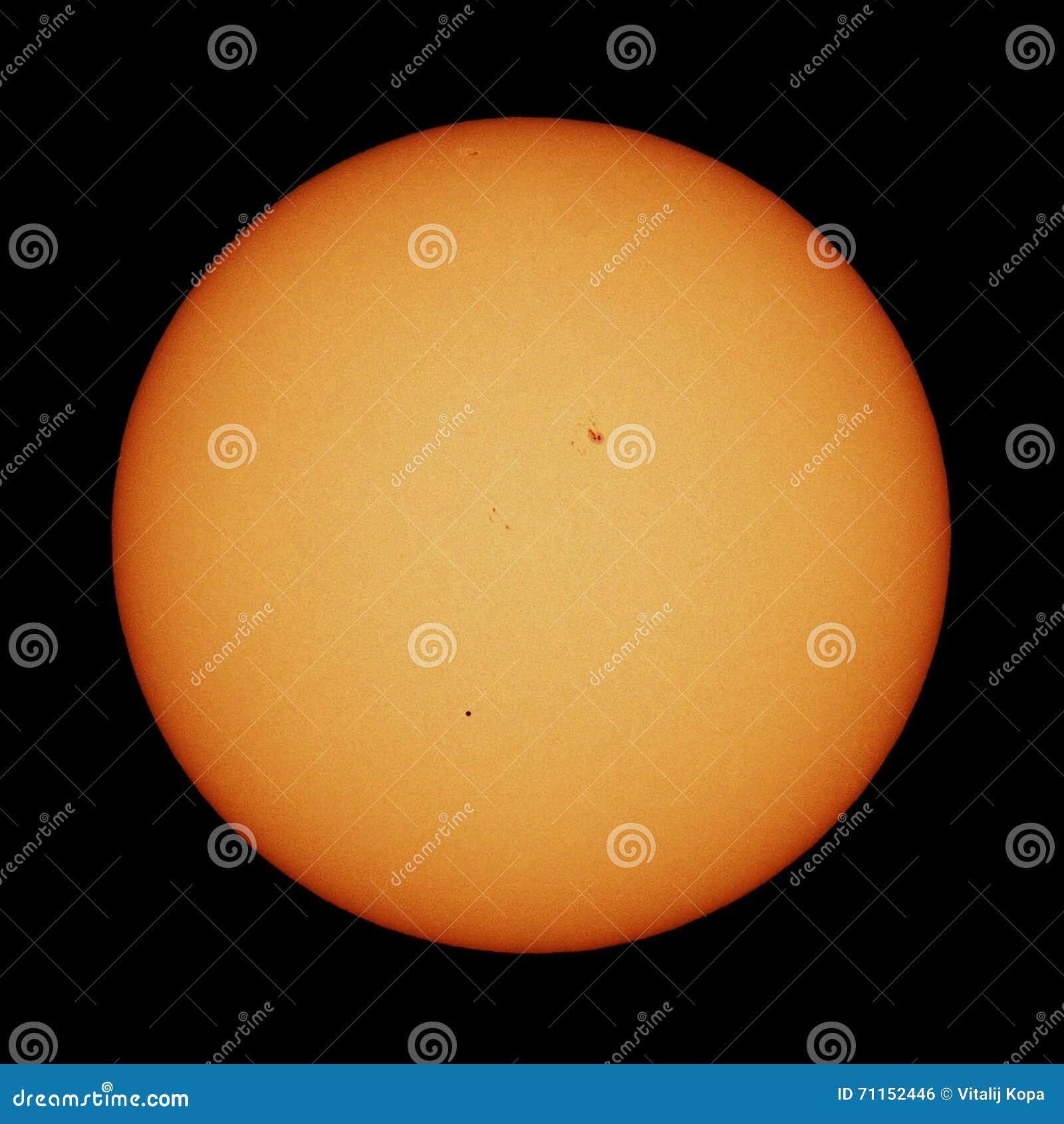 Mercury-Durchfahrt und -sonne