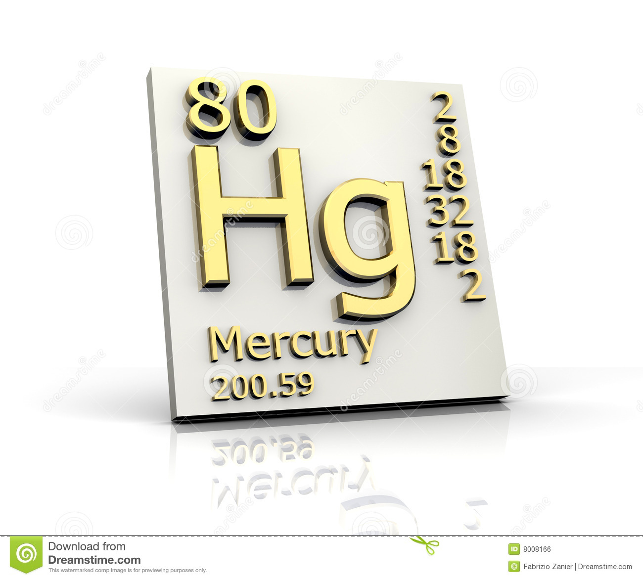 Mercury form periodic table of elements stock illustration royalty free stock photo buycottarizona Gallery
