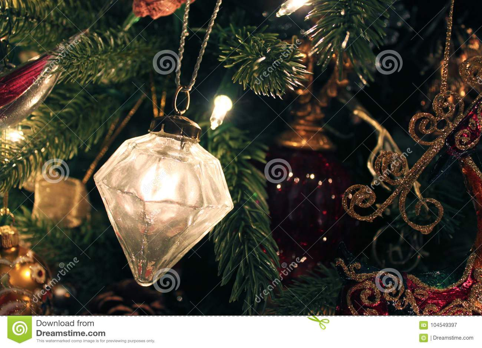 Mercury Glass-ornament op Kerstboom