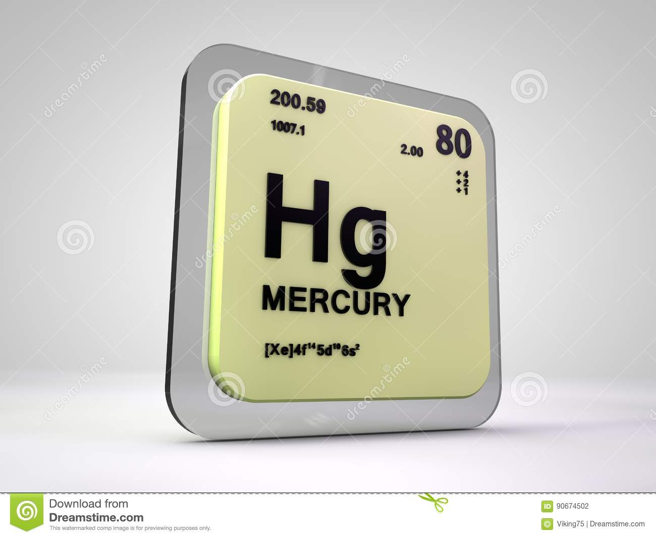 Mercury hg chemical element periodic table stock illustration mercury hg chemical element periodic table urtaz Image collections