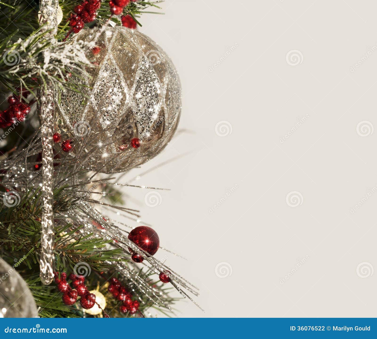 Mercury Silver Christmas Ornament Border