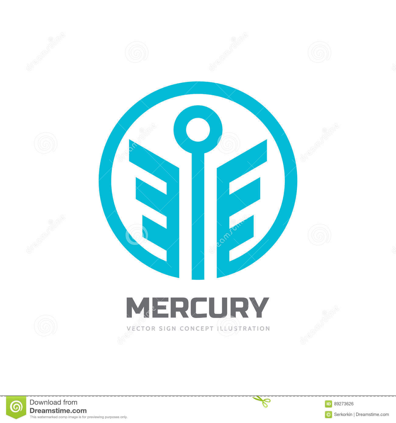 Mercury Vector Logo Template Concept Illustration Stylized God Of