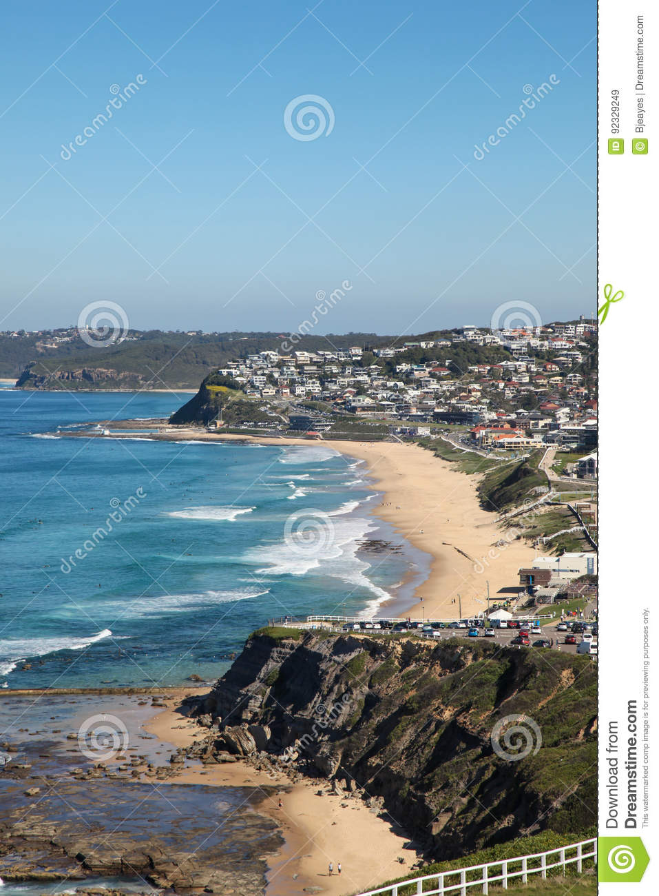 Merewether Beach Newcastle Australia Stock Image Image