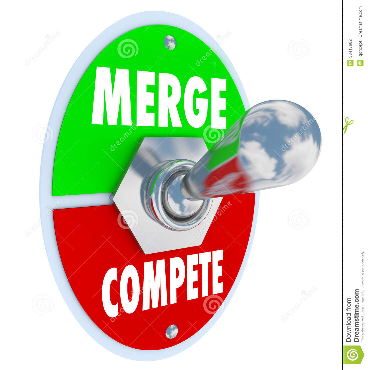 Merge Vs Compete Toggle Switch Combine Companies Bigger ...