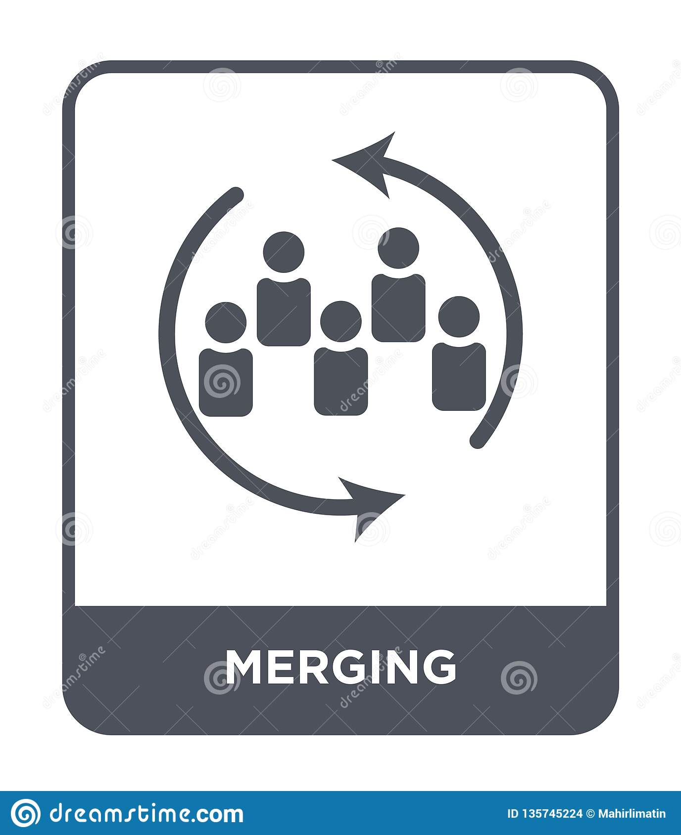 merging icon in trendy design style. merging icon isolated on white background. merging vector icon simple and modern flat symbol