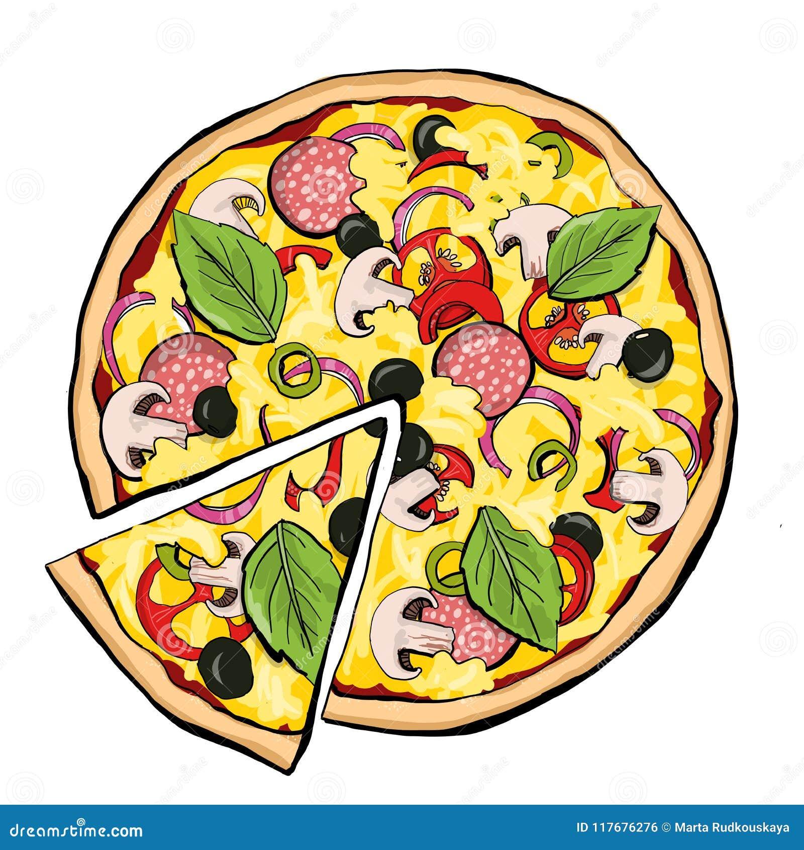 Merguez della pizza con la fetta