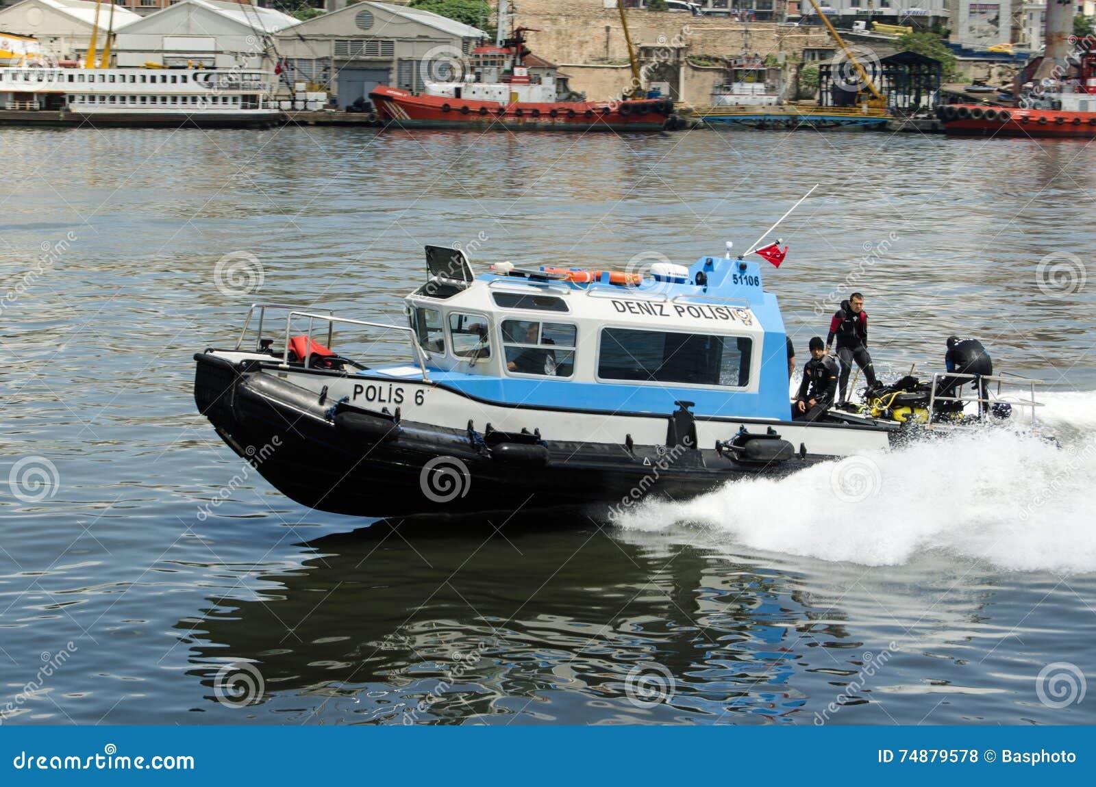 Mergulhadores da polícia, chifre dourado, Istambul