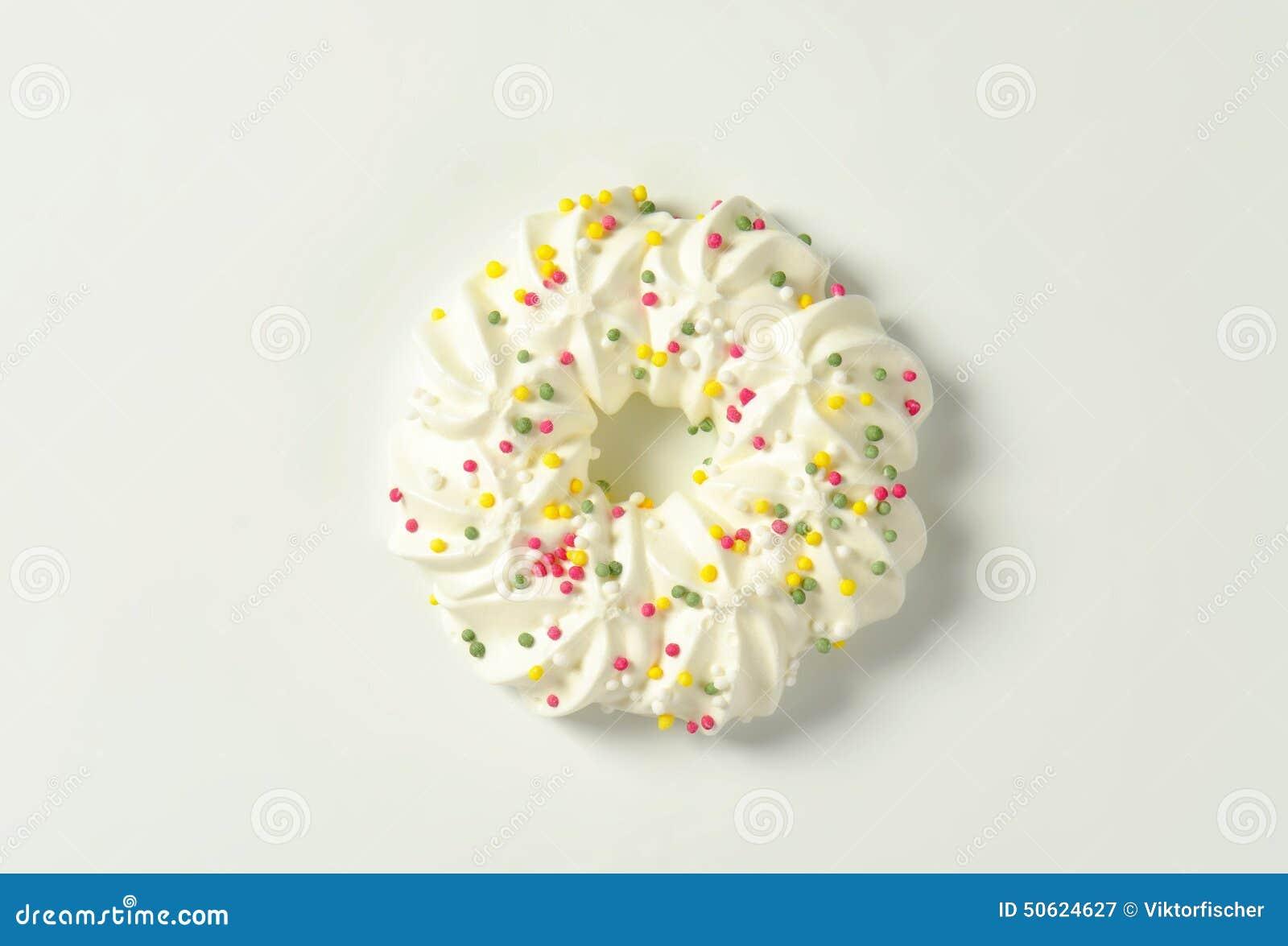 Meringue Wreath Cookie Stock Image Image Of Shaped Background