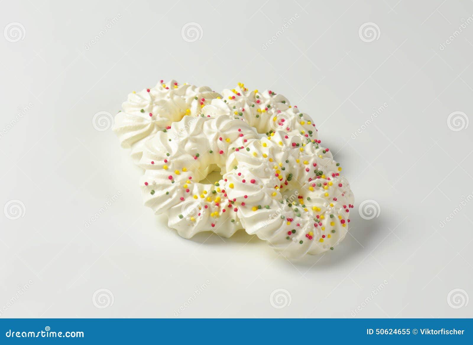 Meringue Wreath Cookies Stock Image Image Of Sprinkles 50624655